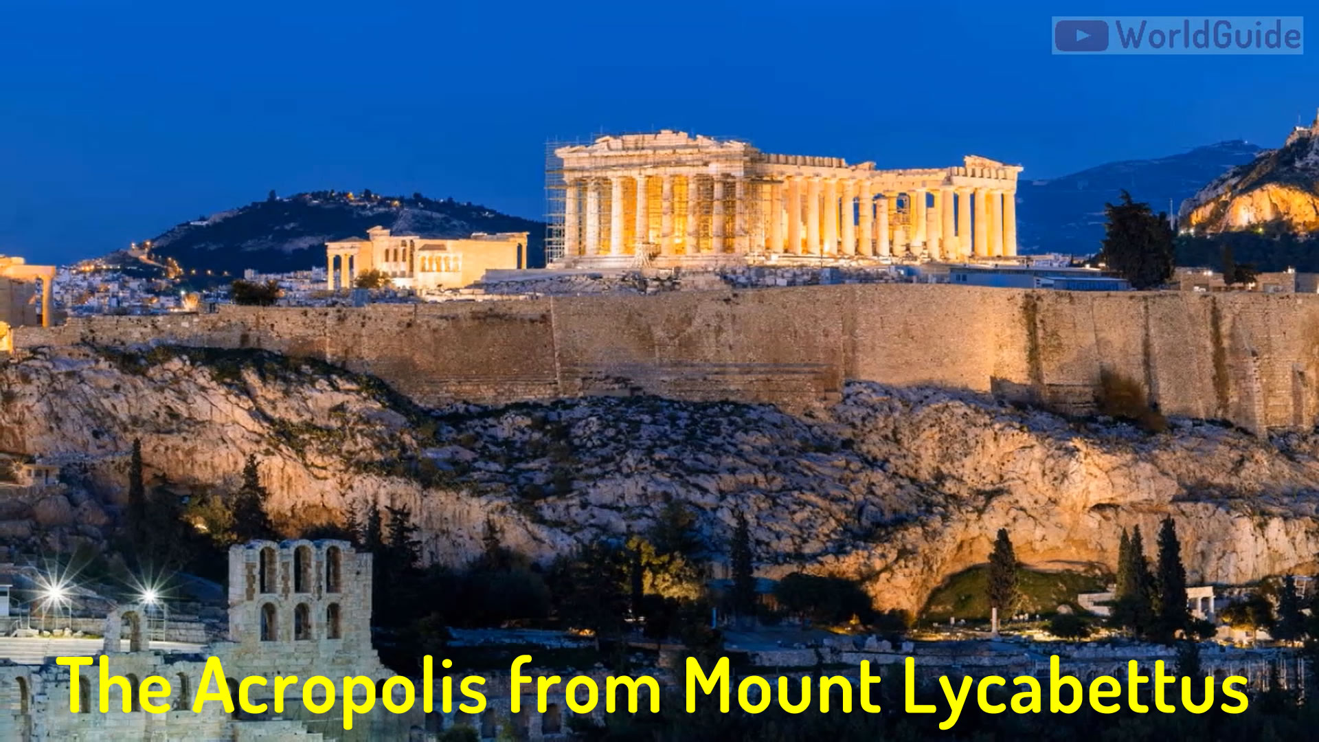 The Acropolis of Athens as seen from Mount Lycabettus
