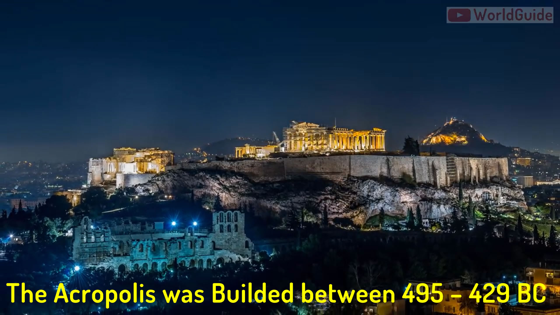 The Acropolis was Builded between 495 – 429 BC