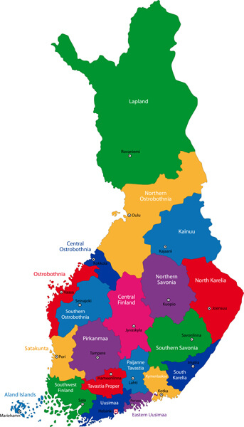 Administrative Map of Finland