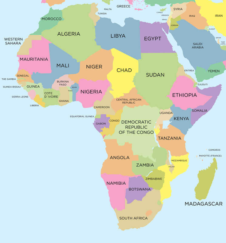 Africa Map - Guide of the World