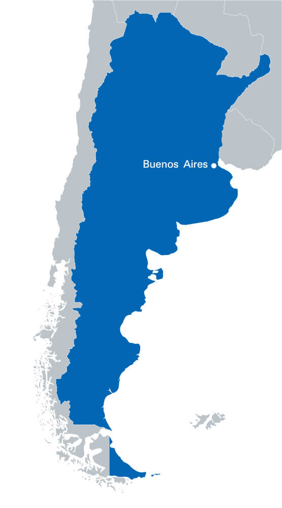 Argentina Blank Map