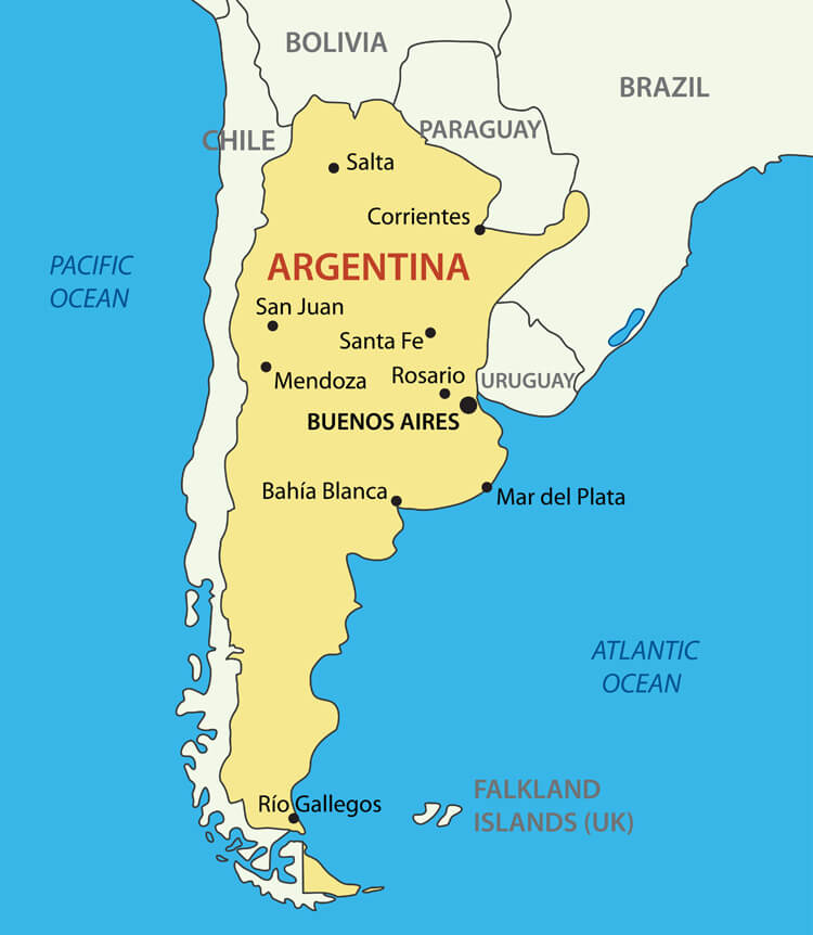 Argentine Republic Map
