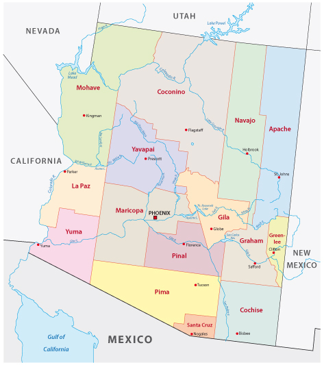 Arizona Administrative Map