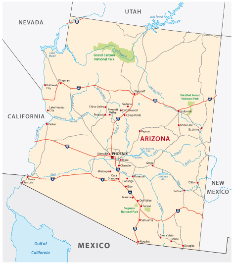 Phoenix Usa Map: Guide Of The World