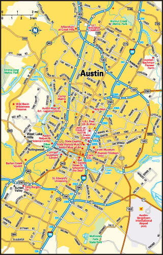 Austin, Texas Area Map