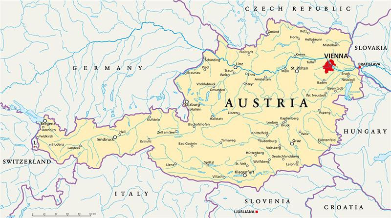 Austria Political Map