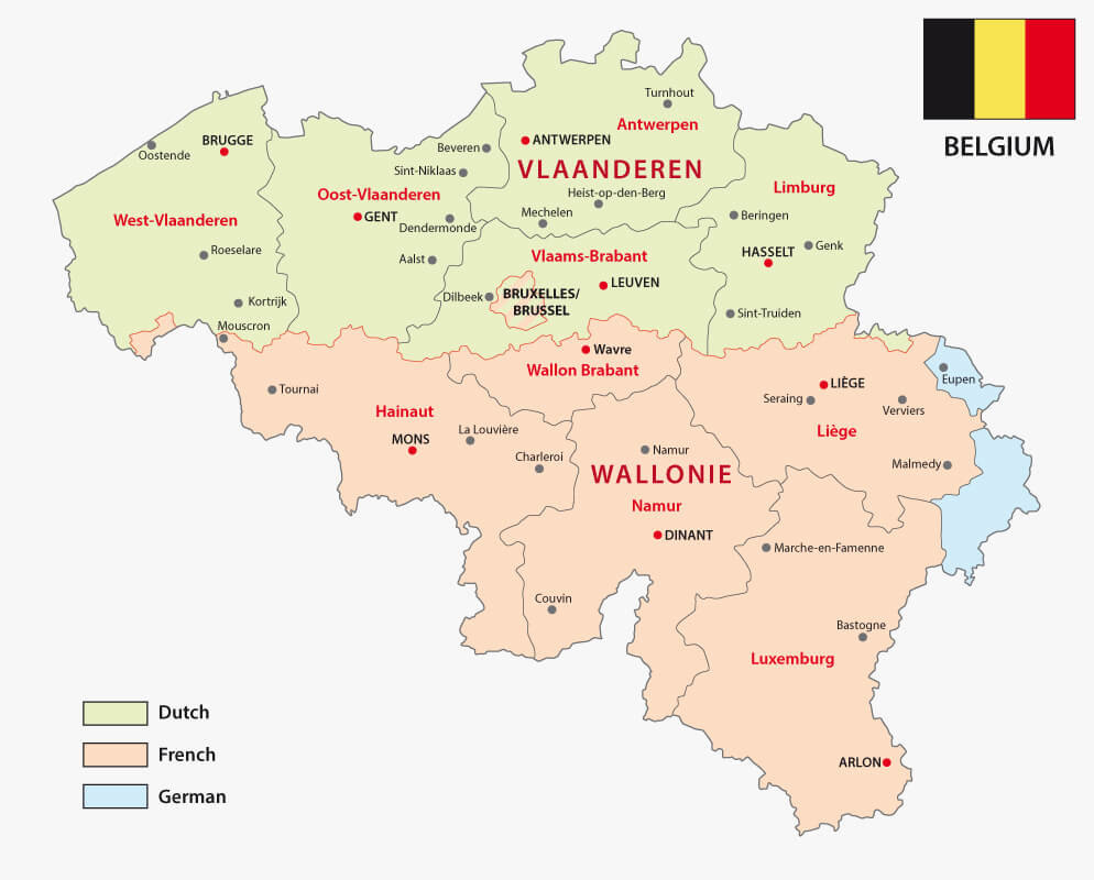 Belgian Regions Language Map