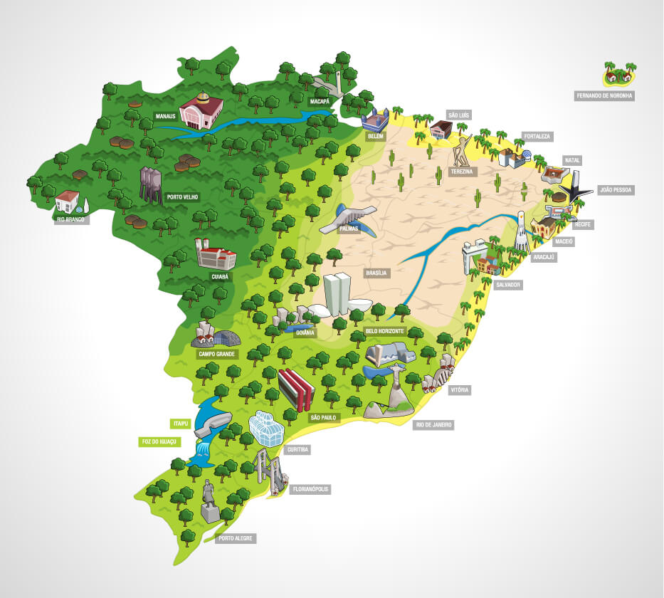 Brazil Forest Map