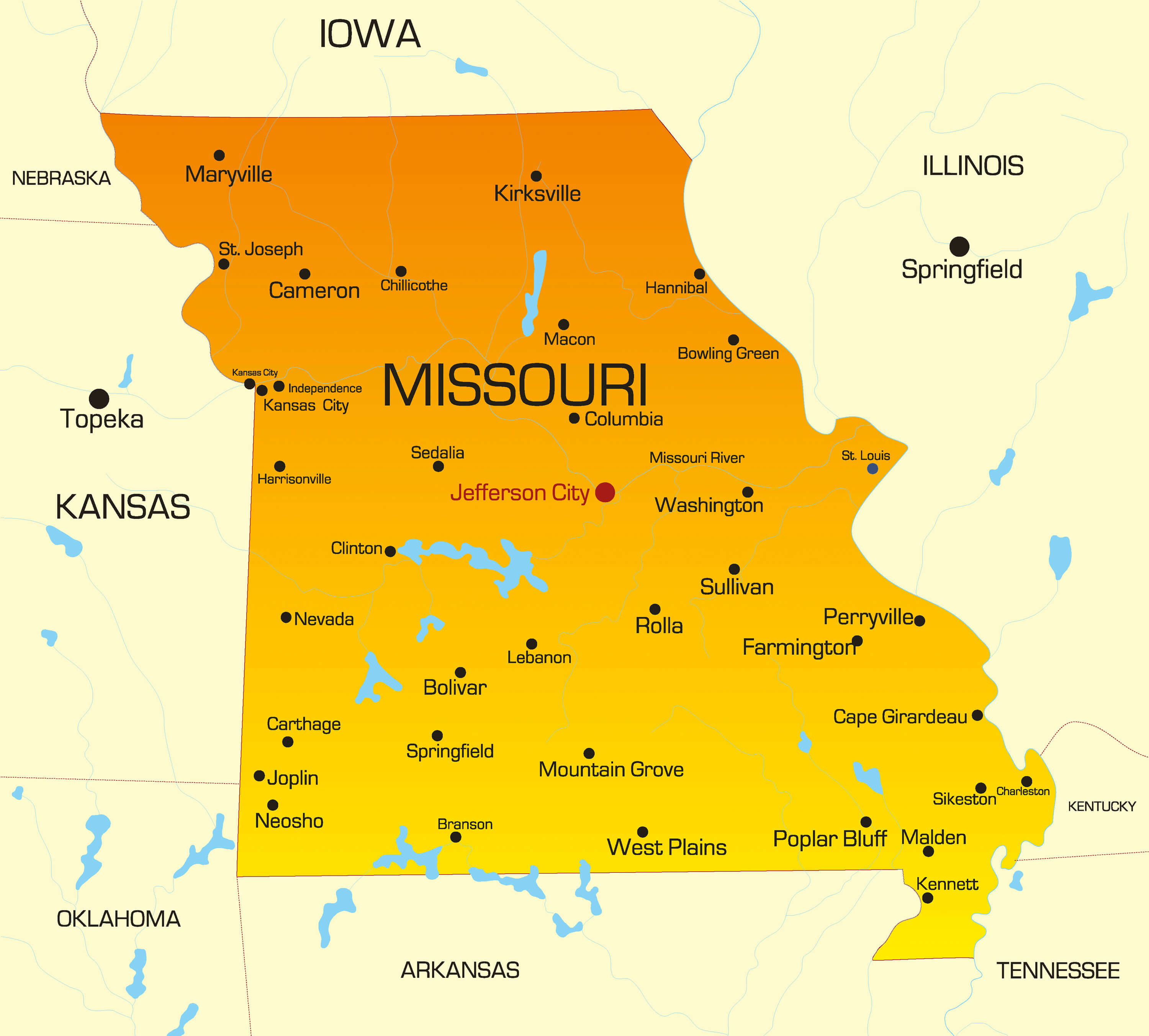 Missouri Map Guide Of The World