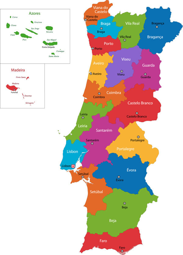 Portugal Map Guide of the World