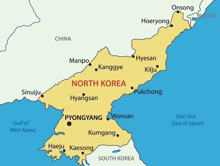 Democratic People's Republic of Korea Map