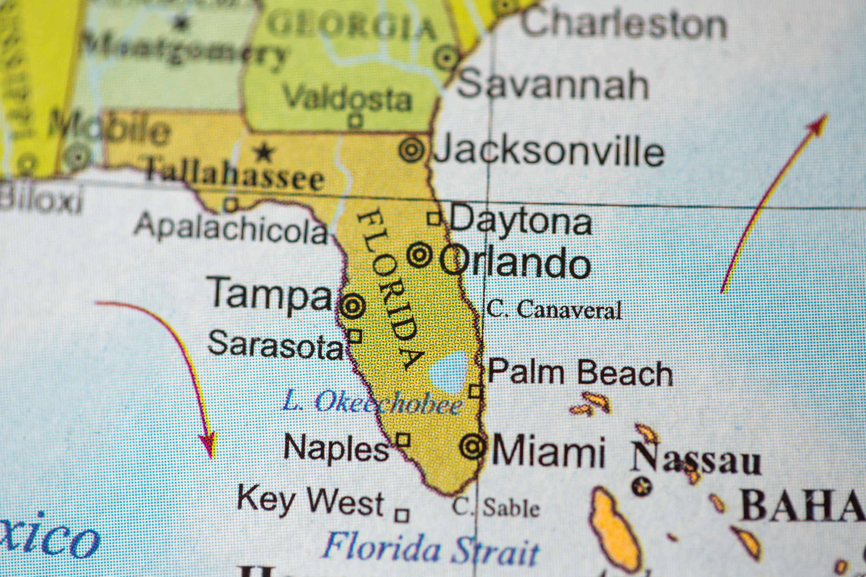 Florida Geographical Map