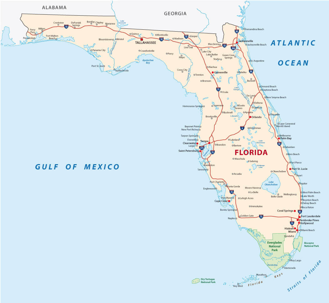 Florida Map Guide Of The World