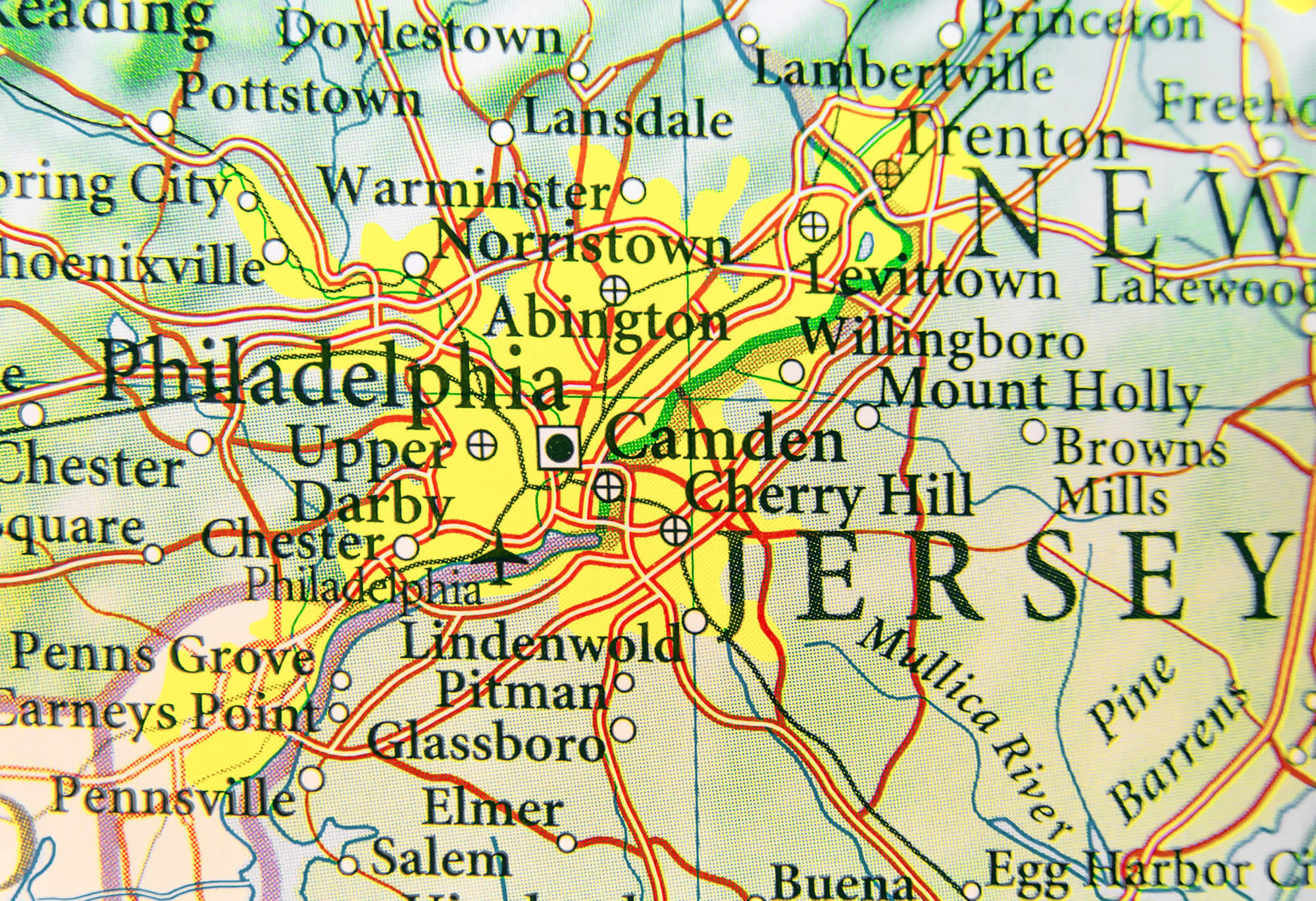 Map Of New Jersey Guide Of The World
