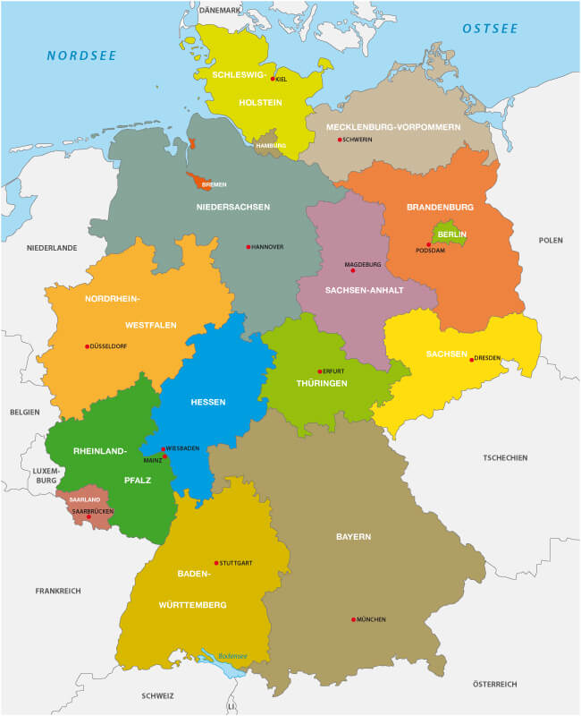 Germany State Map