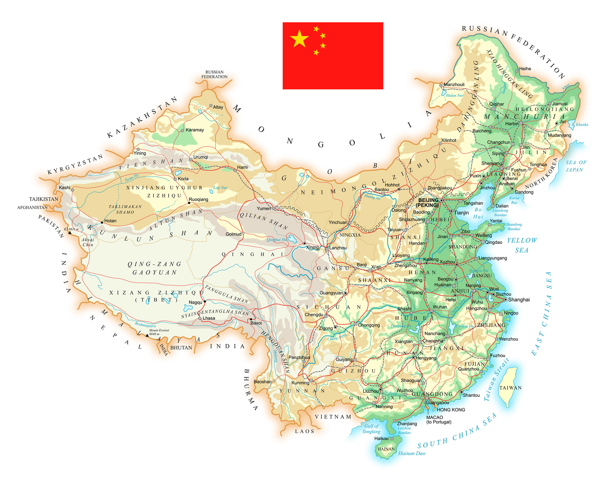 Hong Kong China Map