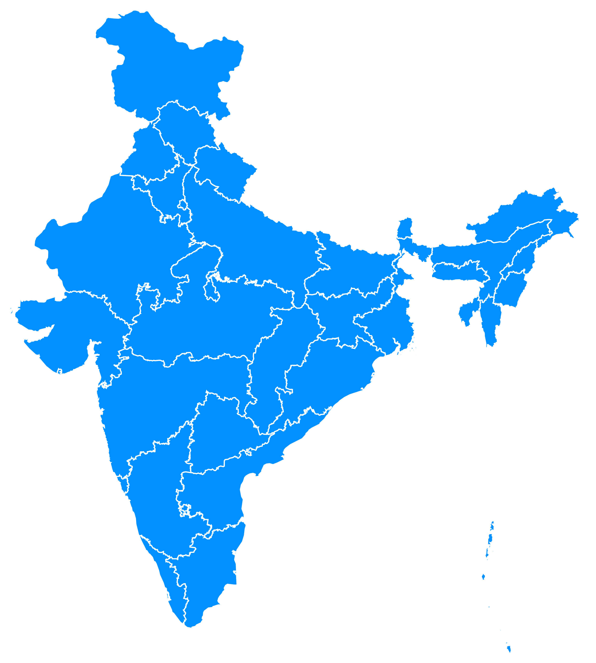 India Blank Map