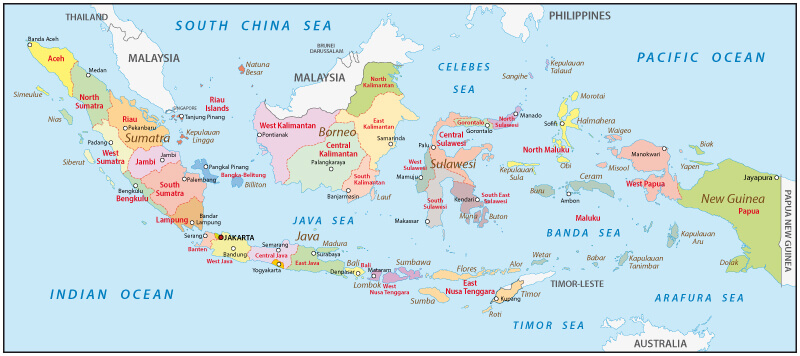 Map of Indonesia Guide of the World