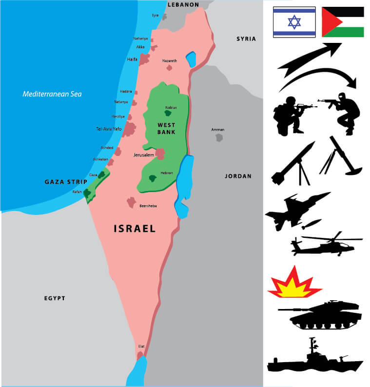 Israel Middle East Map