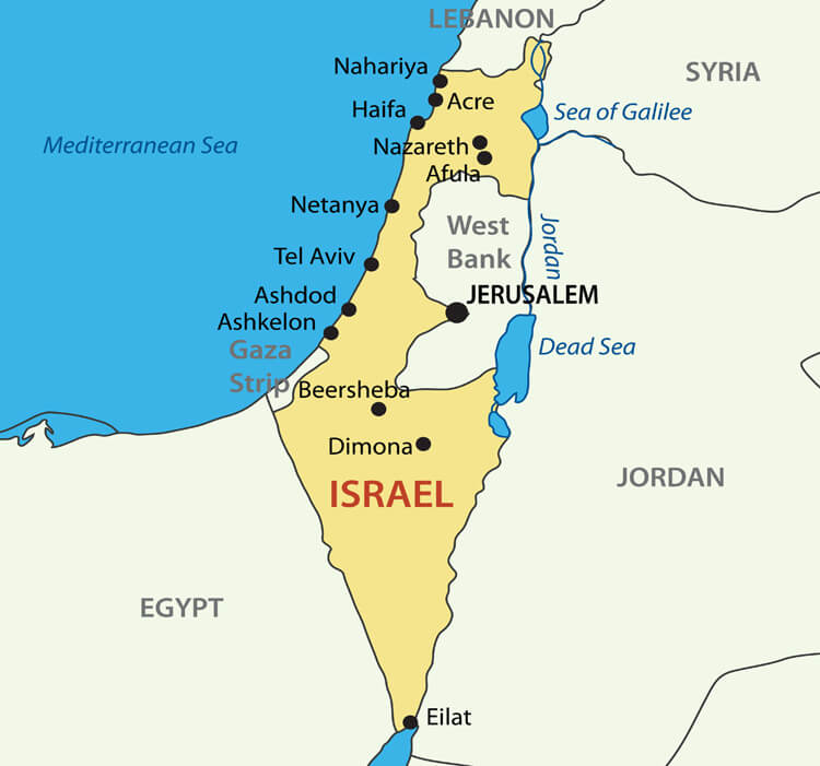 Israel Vectorel Map