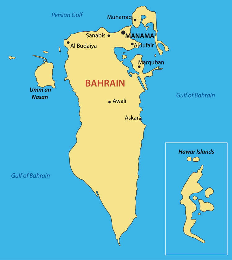 Kingdom of Bahrain Map