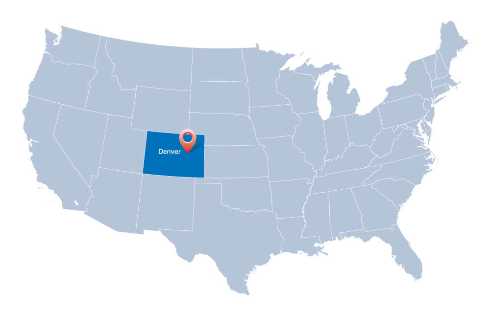 Map of USA, Colorado