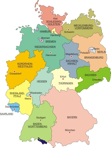 Map of Germany