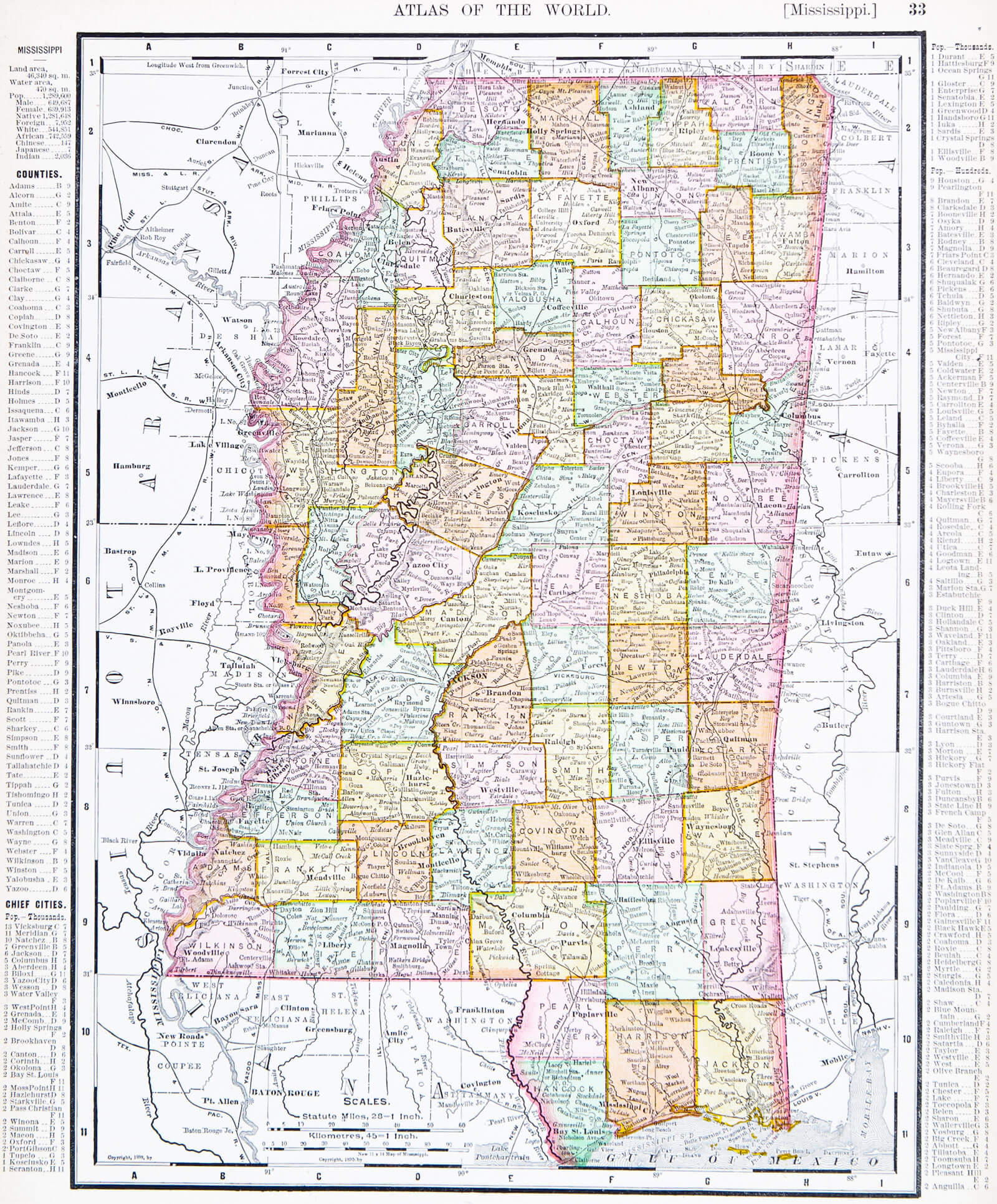 Mississippi Map - Guide of the World on louisiana's map, maryland's map, kentucky's map, maine's map, oklahoma's map, mississippi regions map, ms road map, georgia's map, michigan's map, indiana's map, missouri's map, new mexico's map, mississippi county map, mississippi state map, new jersey's map,
