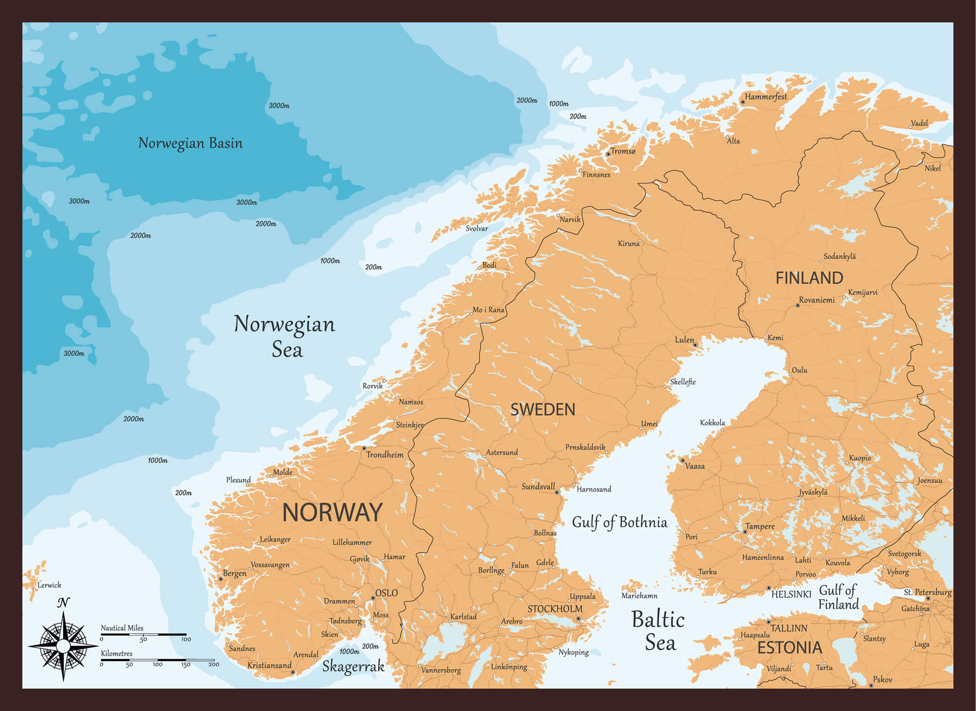 Map of Norway Guide of the World