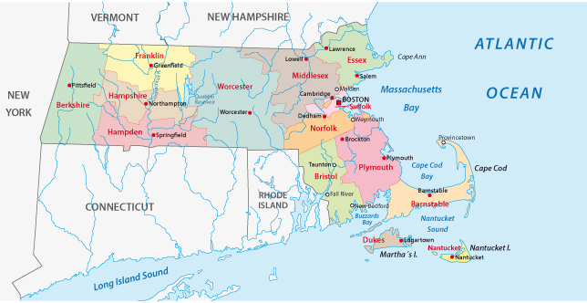 Massachusets Administrative Map