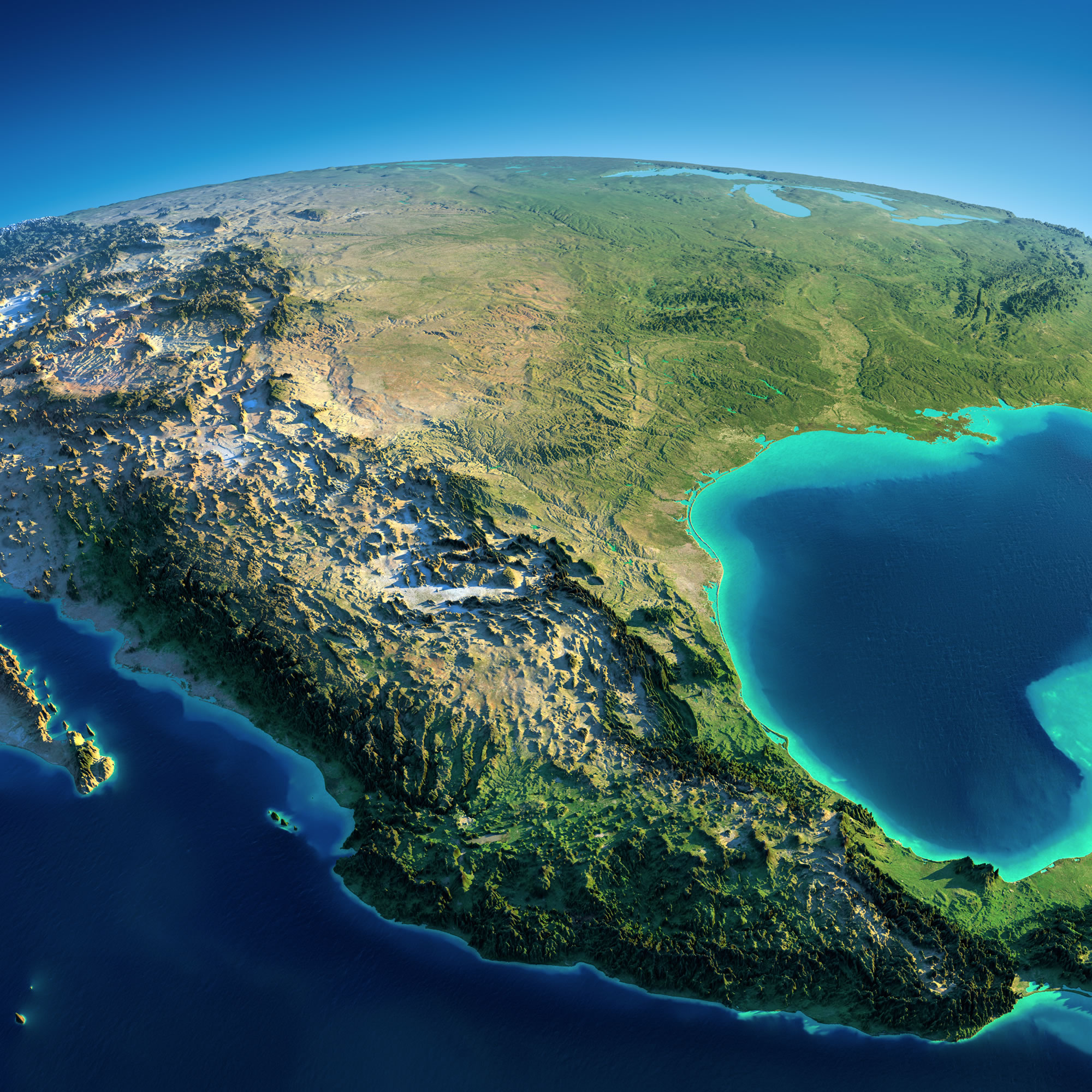Mexico Satellite Map Earth
