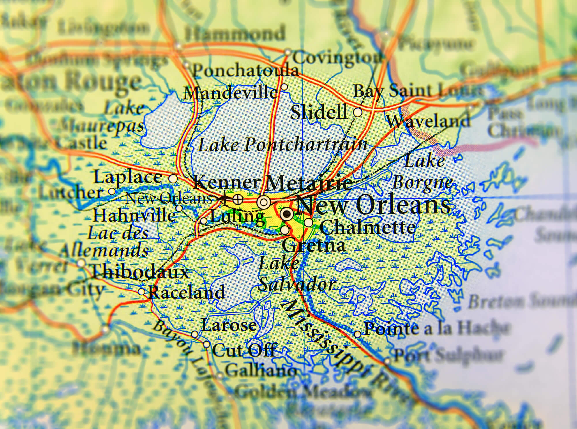 Map Of Louisiana Guide Of The World