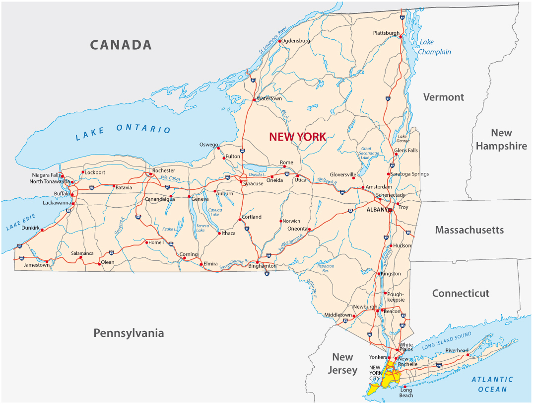New York State Road Map