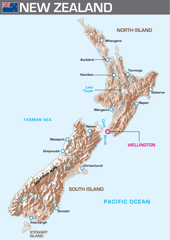 New Zealand Relief Map