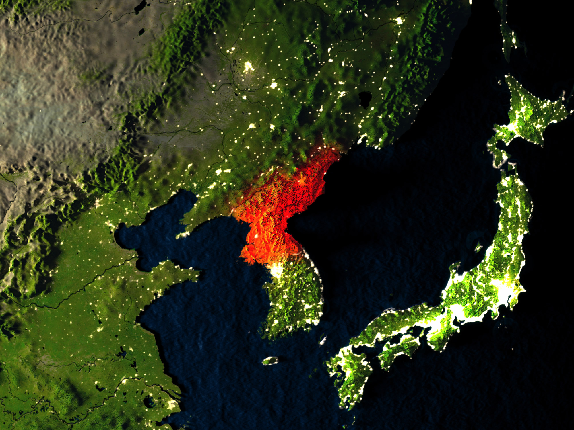 North Korea from Earth