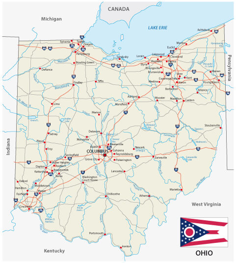 Ohio Maps Guide of the World