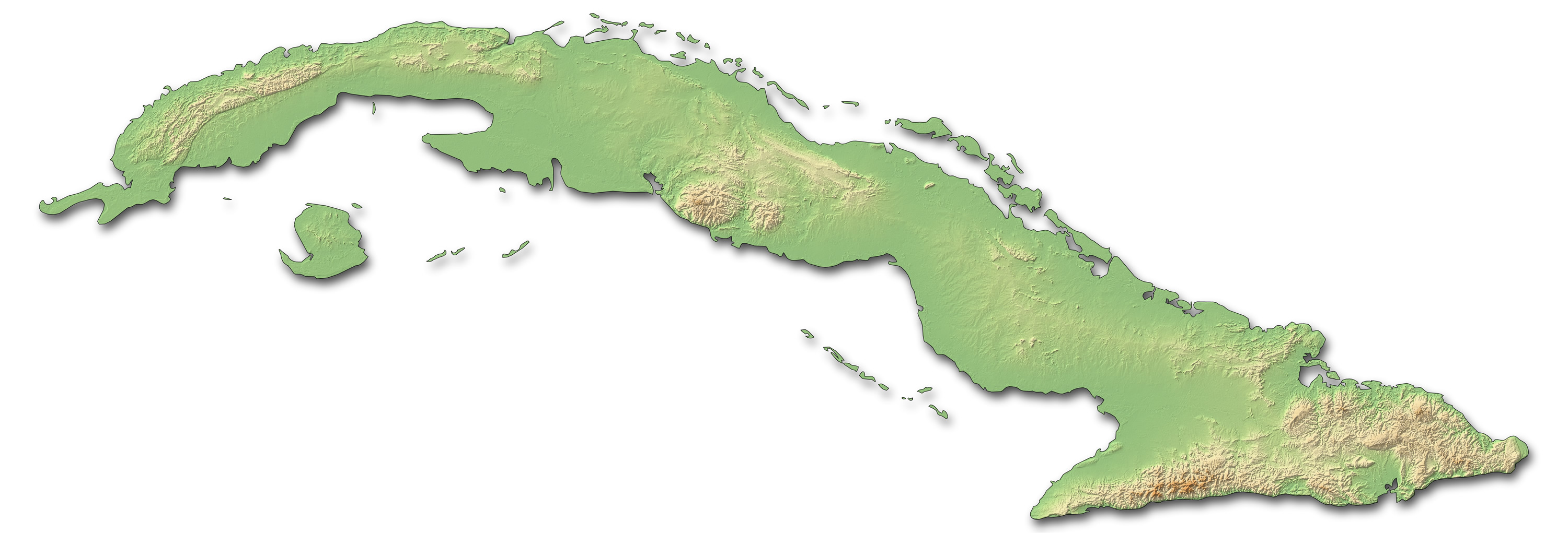 Relief Map of Cuba