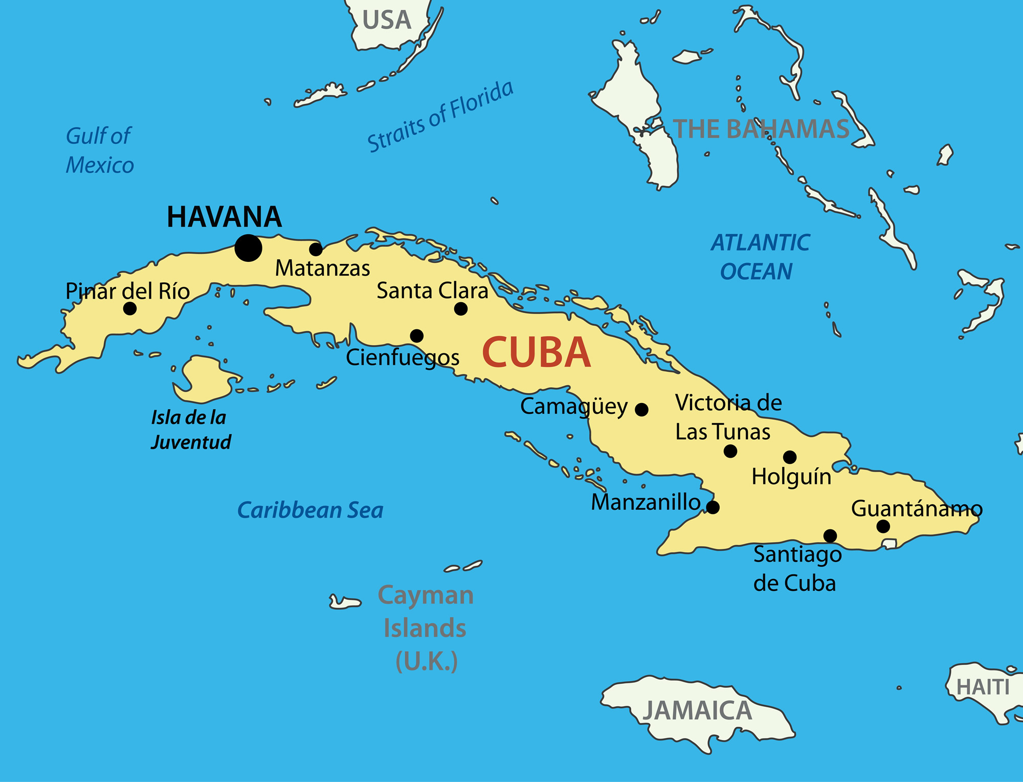 Republic of Cuba Map