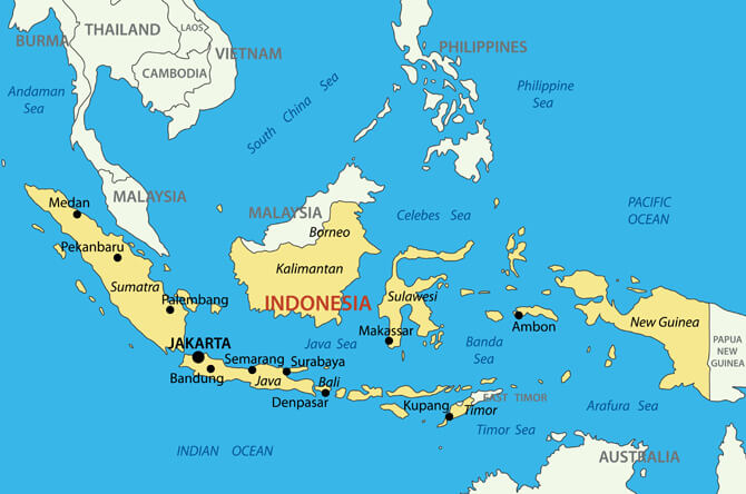 Map of Indonesia - Guide of the World Bali On Map Of Pacific on hanoi on map, cappadocia on map, sumatra on map, medan on map, borneo on map, malay peninsula on map, bali world map, vientiane on map, mafia island on map, place to visit in bali map, baikal on map, yangon on map, manila on map, new guinea on map, jakarta on map, harbour island on map, sydney on map, singapore on map, zambezi on map, mindanao on map,
