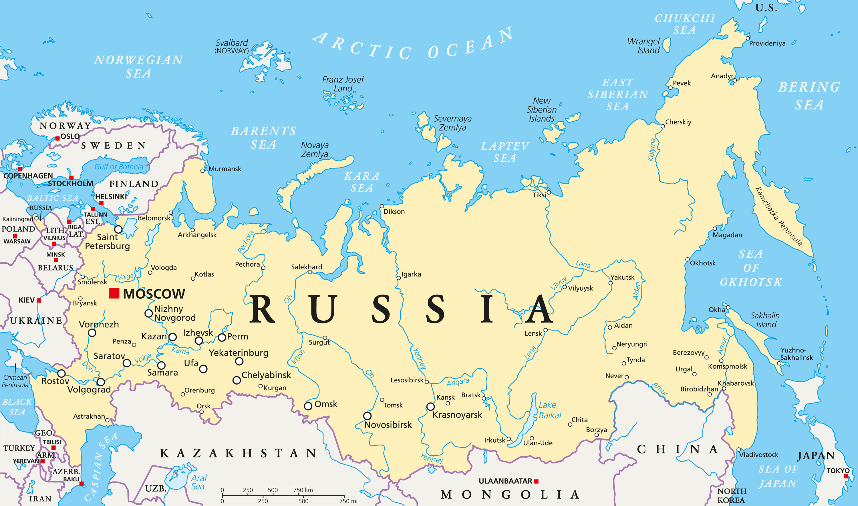 Image of: Map Of Russia Guide Of The World