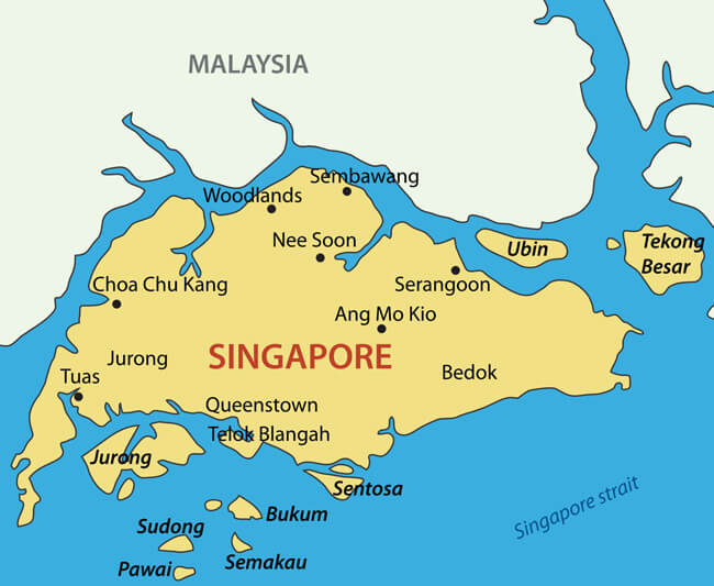 Singapore Map - Guide of the World on south africa on world map, democratic republic of congo on world map, india on world map, yangtze river on world map, thailand on world map, mecca on world map, middle east on world map, perth on world map, israel on world map, hong kong on world map, beijing on world map, kenya on world map, cape of good hope on world map, japan on world map, libya on world map, australia on world map, dubai on world map, shenzhen on world map, new guinea on world map, spain on world map,