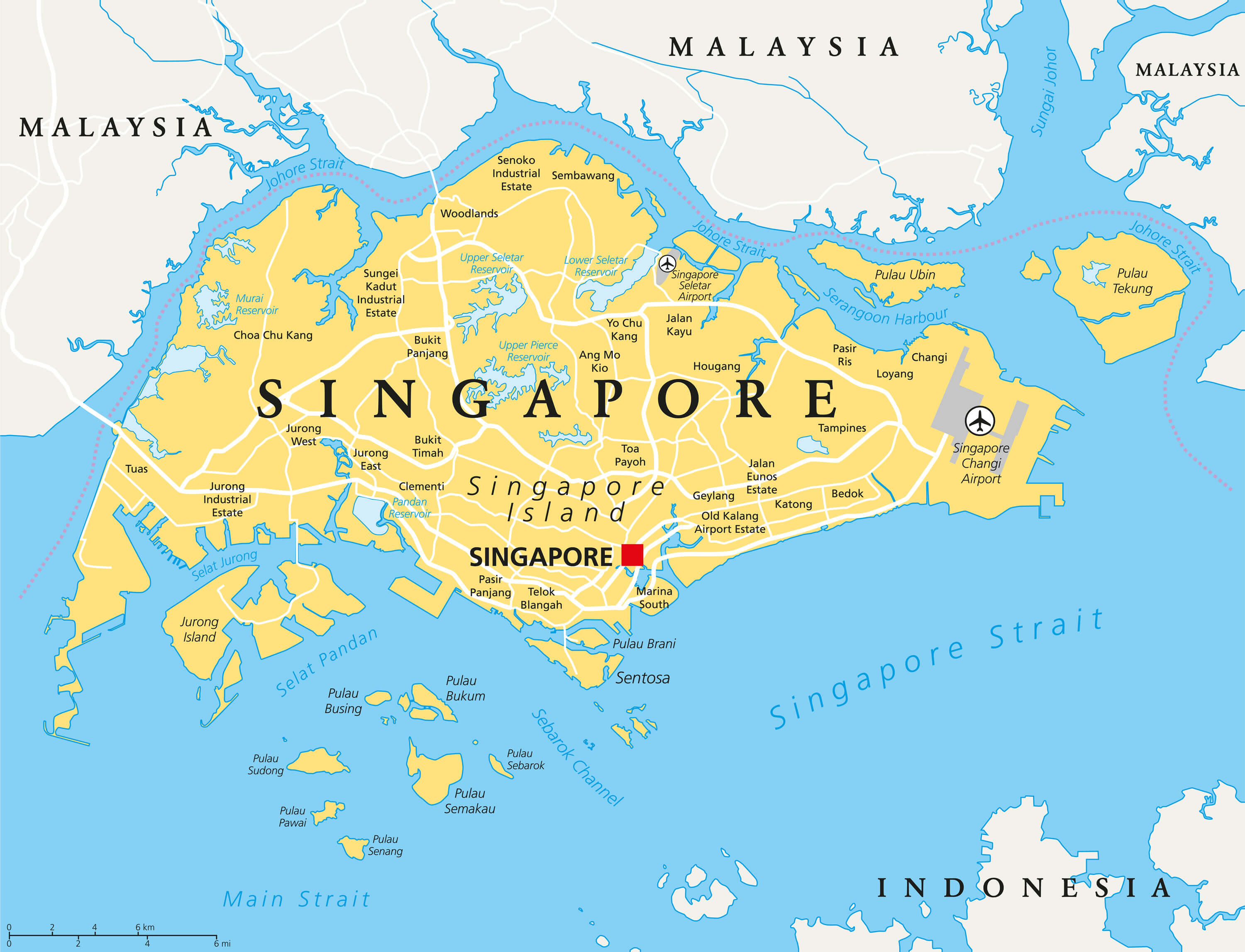 Singapore Map - Guide of the World on southeast asia, brazil map, africa map, kuala lumpur, united states map, japan map, southeast pacific map, europe map, cyprus map, philippines map, chongqing map, singapore airlines, british columbia map, vatican map, singapore dollar, slovenia map, senegal map, mrt map, oceania map, taiwan map, qatar map, hong kong, ho chi minh city, hong kong map, asia map, china map,