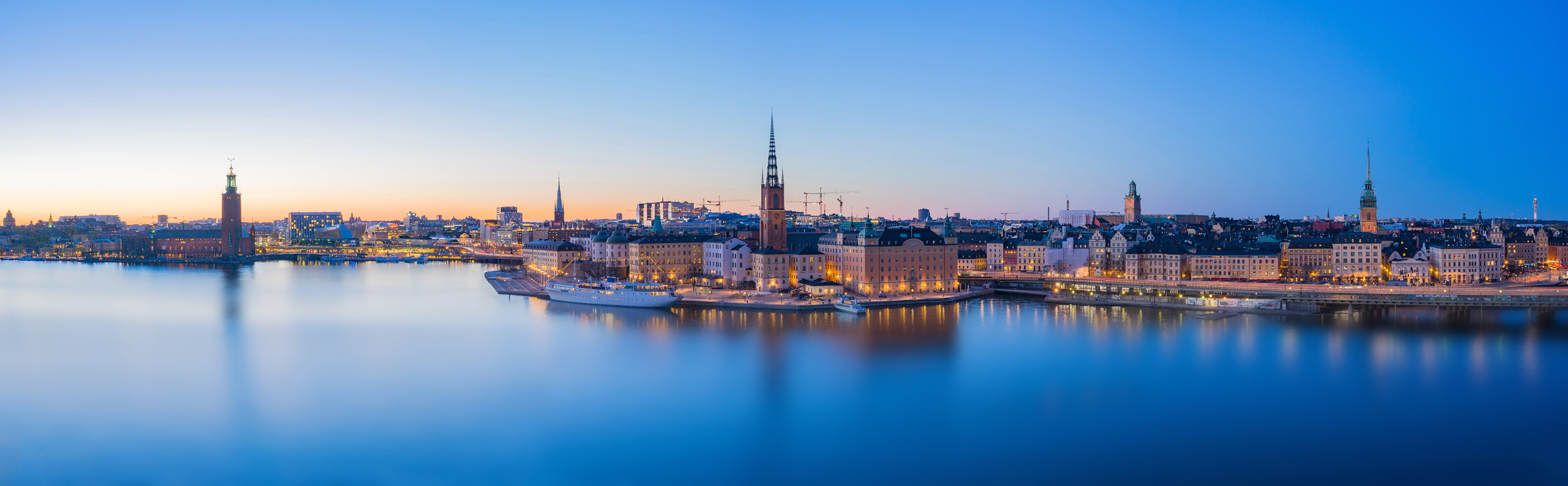 Skyline in Stockholm City, Sweden