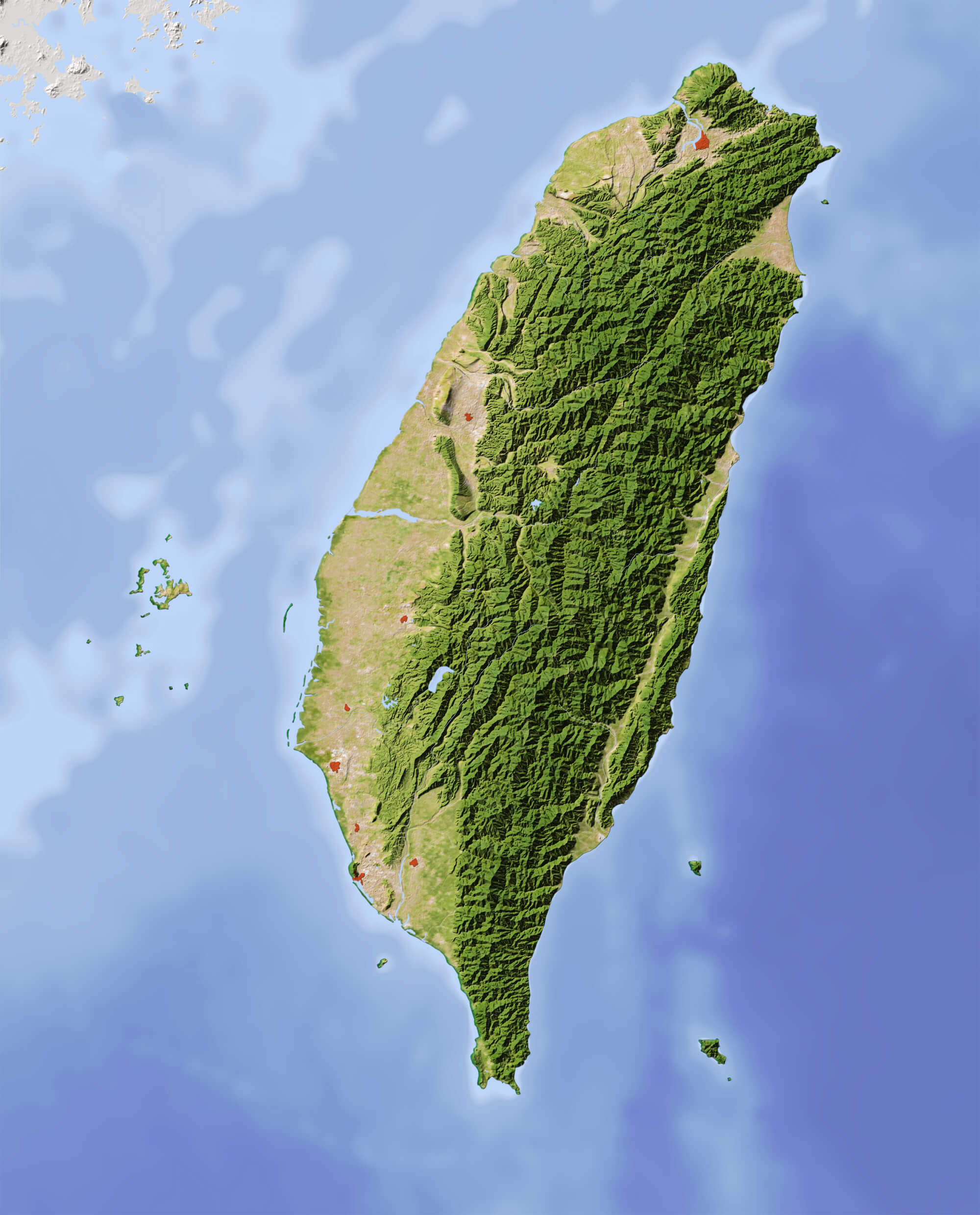 Taiwan Relief Map