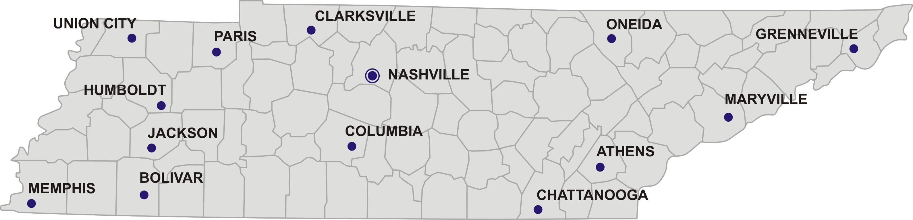 Map Of Tennessee Guide Of The World - Map of tennessee with cities