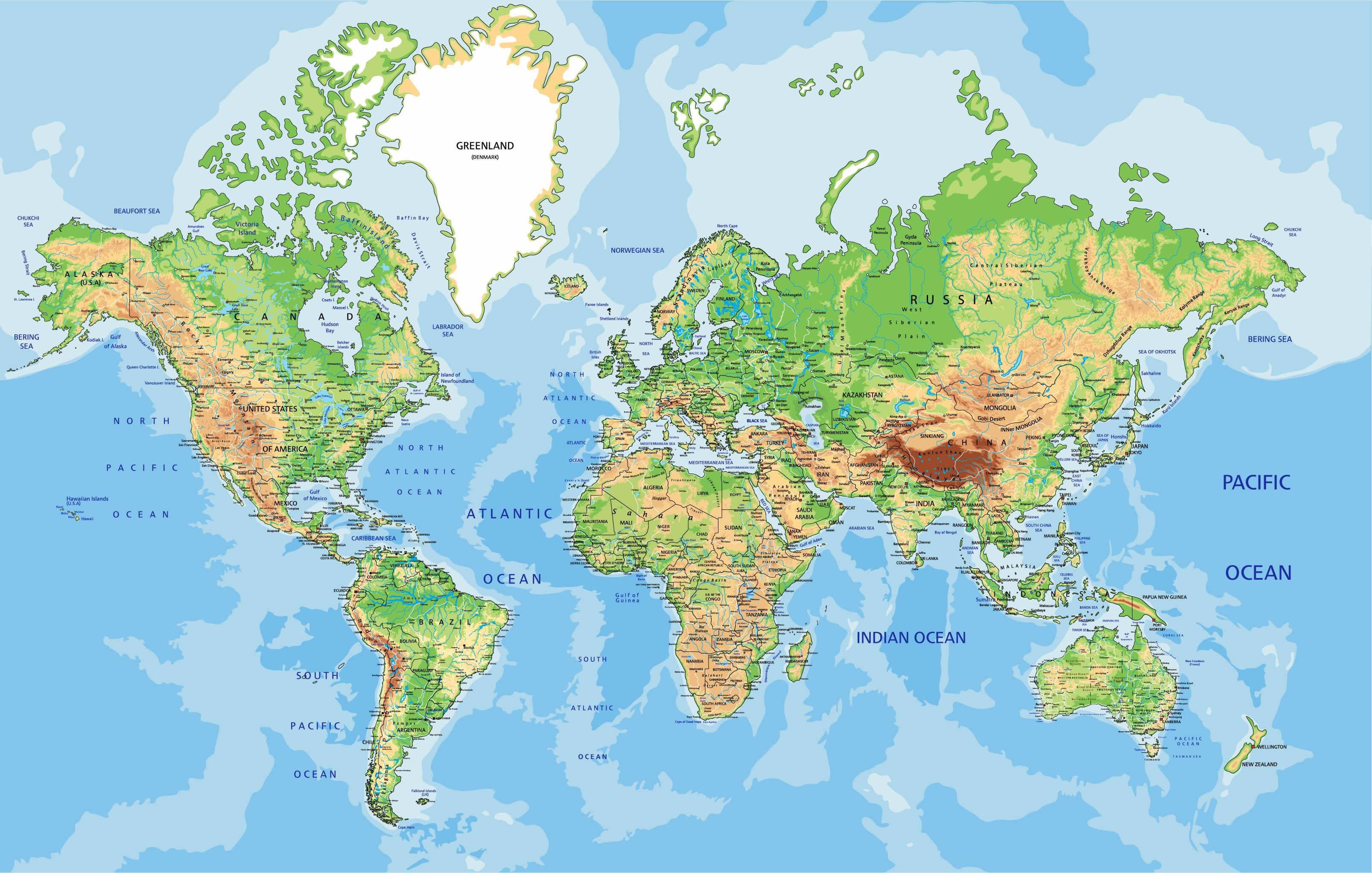 Map of World - Guide of the World