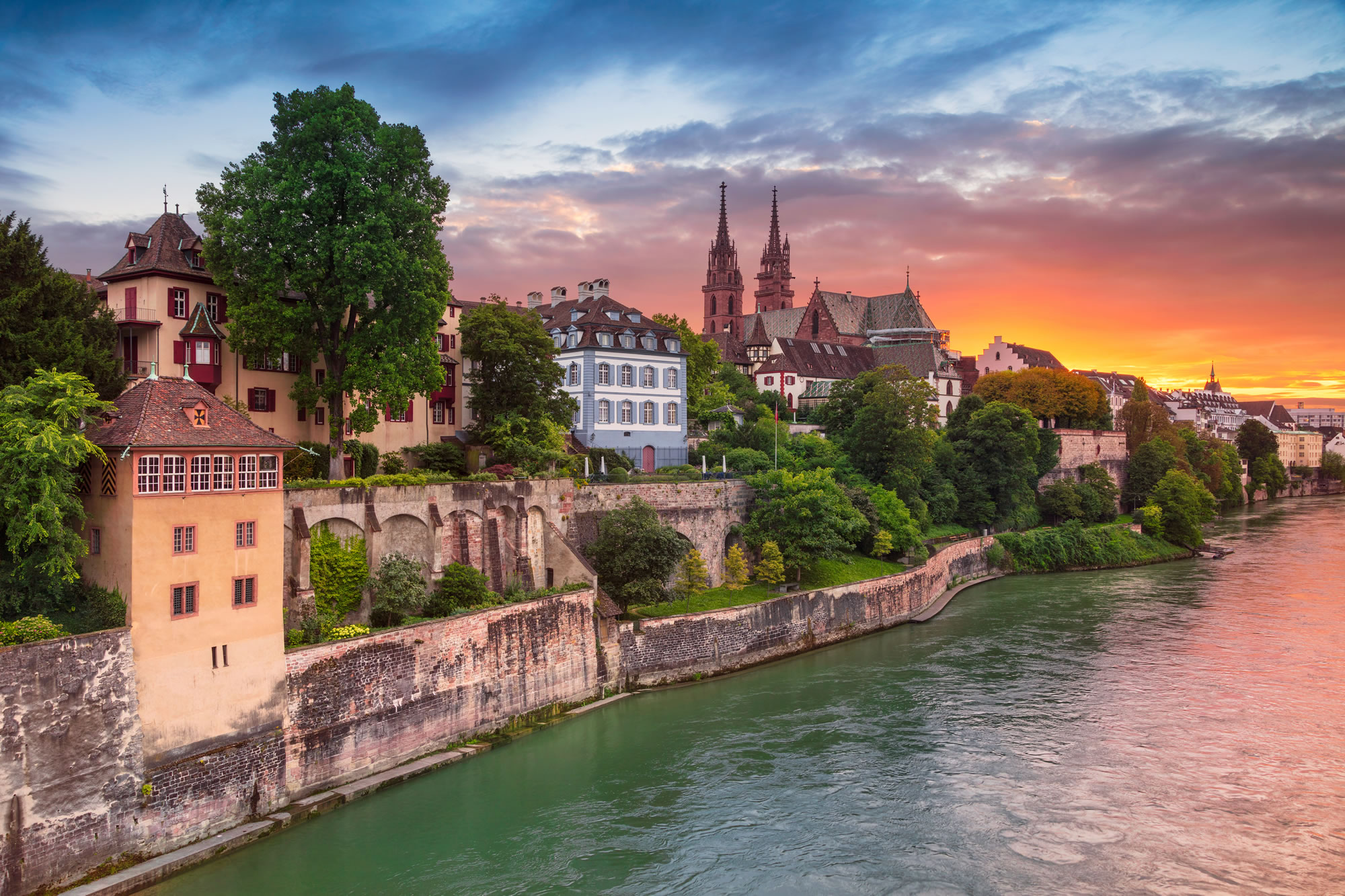 Cityscape Image of Basel, Switzerland