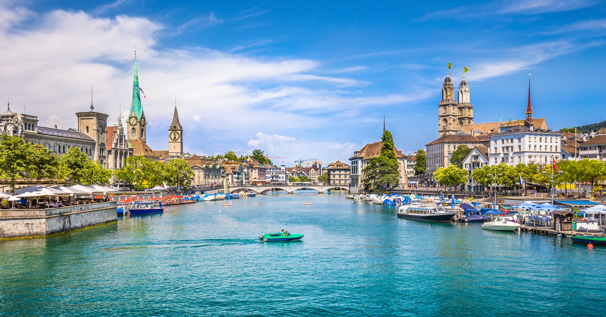 Grossmunster Churches and River Limmat, Zurich