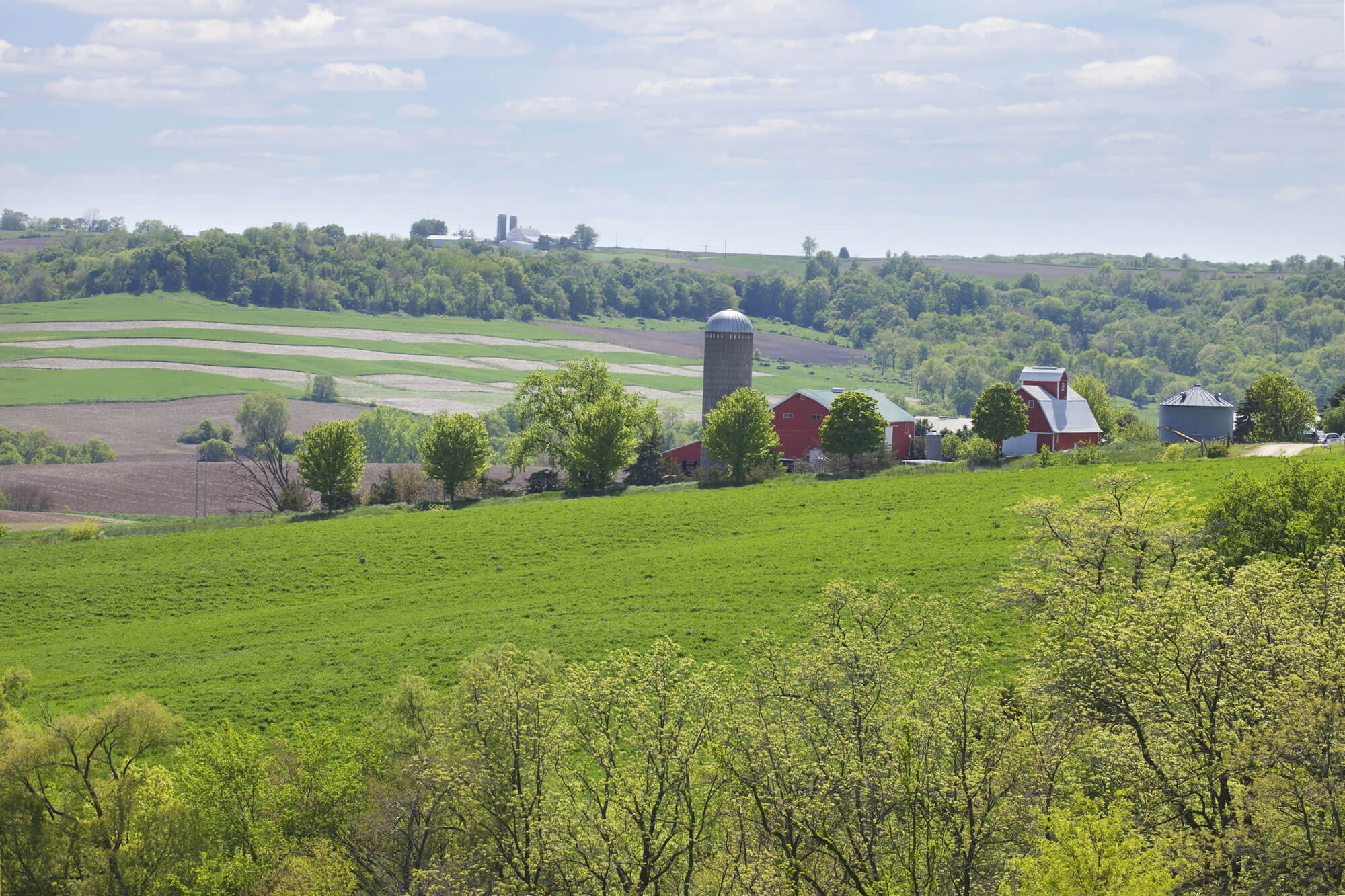 Iowa countryside during spring