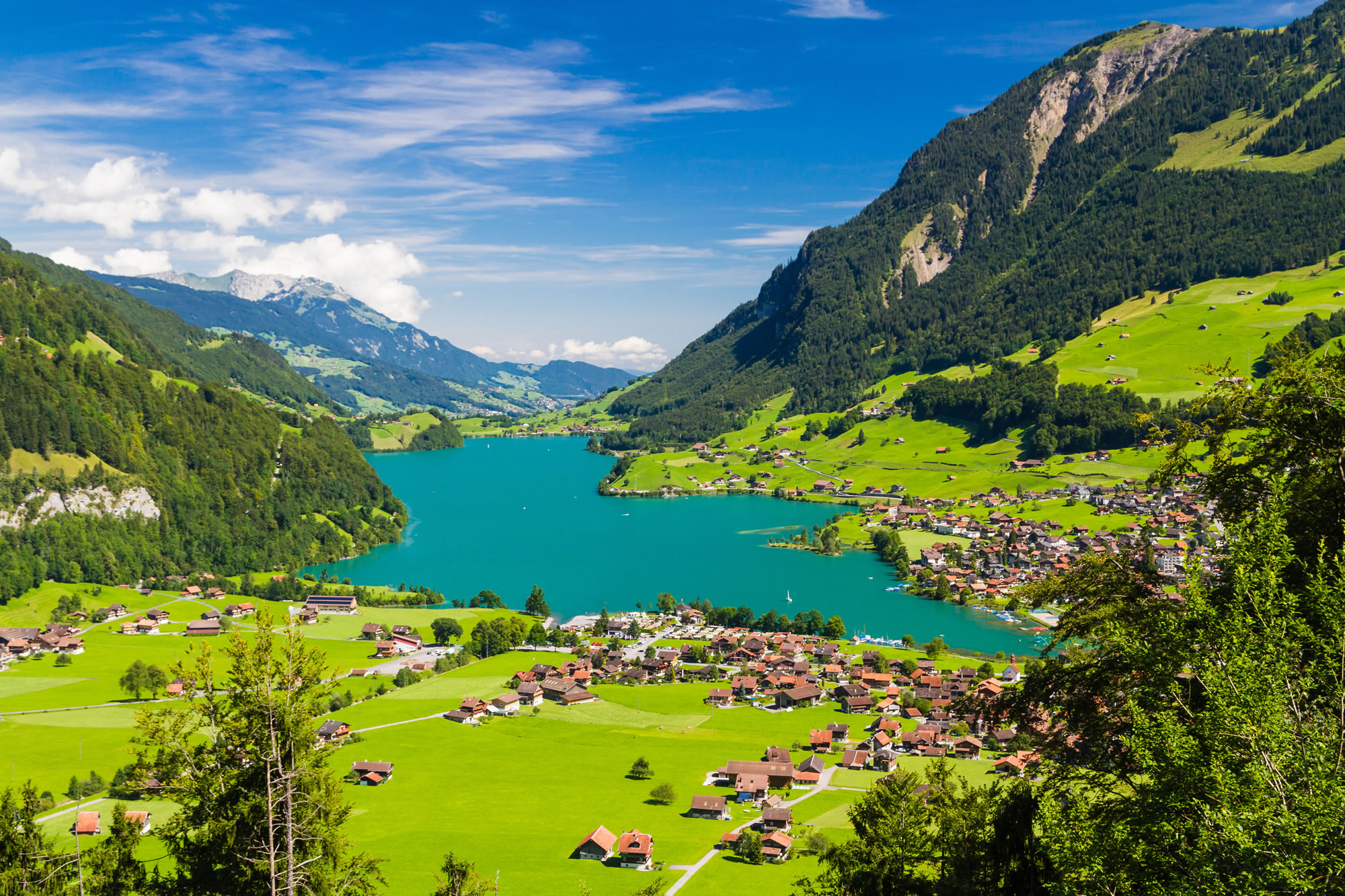 Lake Lungern Valley, Switzerland